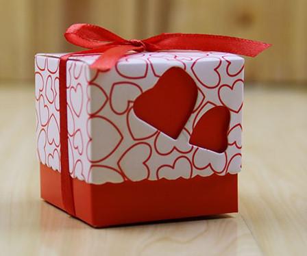Бонбоньерки Сердце (красная)