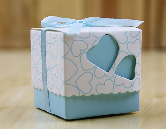 Бонбоньерки Сердце (голубая)