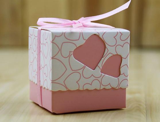Бонбоньерки Сердце (розовая)