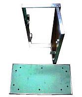 Алюминиевый люк Короб под покраску в гипсокартонный потолок 40х80 см (400х800 мм)