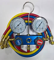 Манометрический коллектор двухвентельный CT-236С R-404, 134, 22 со шлангами 0.90м Whicepart