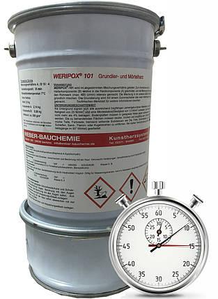 Епоксидна швидкореагуюча 2-компонентна прозора смола Weripox® 101S, пак. 10 кг / Эпоксидный грунт, фото 2