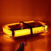 Световая панель мини, проблесковый маячок светодиодный оранжевый 12-24V/6654