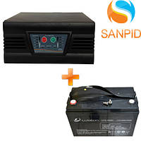 Источник бесперебойного питания Luxeon UPS-1000ZS + Аккумулятор Luxeon LX12-100MG 100Ah