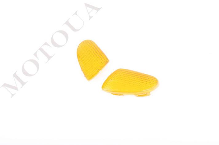 Скло поворотів передні (пара) YAMAHA APRIO KOMATCU Жовті, фото 2