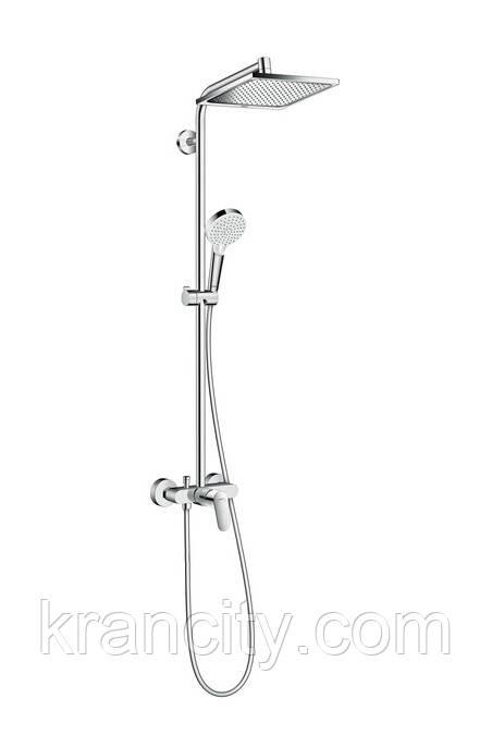 Душевая система со смесителем, HANSGROHE Crometta E 240 1jet Showerpipe 27284000
