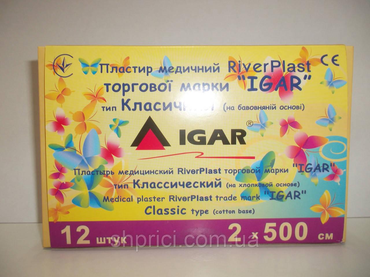 Пластырь 2х500 см на тканевой основе (хлопок)/ RiverPlast / ИГАР