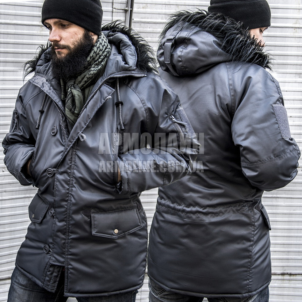 "Куртка зимняя ""АЛЯСКА"" (ГРАФИТ) Размер 48-50"