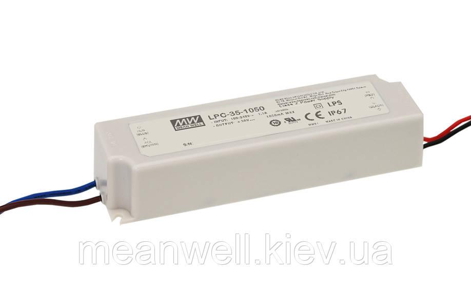 LPC-35-1400 Блок питания Mean Well  Драйвер для светодиодов (LED) 33.6 Вт, 9~24 В, 1400 мА