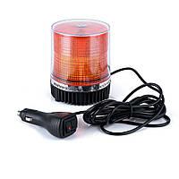 Проблесковый маячок LED1-18 желтый 12- 24 В, светодиодный на магните/6656