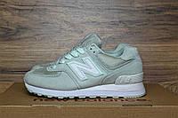 Женские кроссовки в стиле New Balance 574 бледно-зеленый