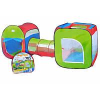 Большая детская двойная палатка с переходом