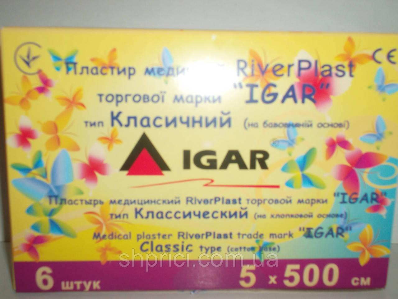 Пластырь медицинский 5х500 Классический на тканевой основе RiverPlast / ИГАР