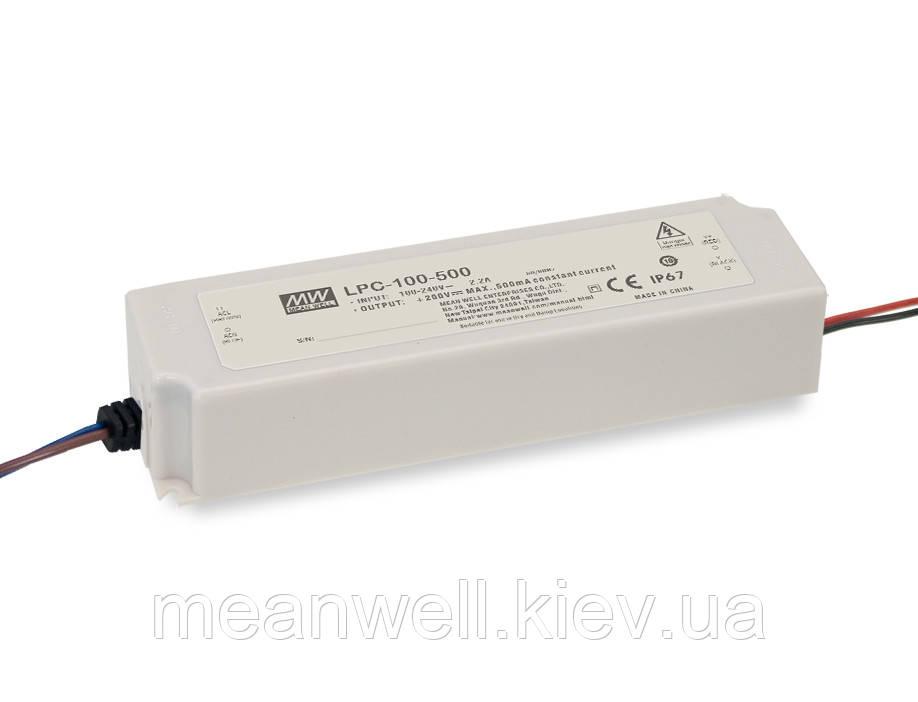 LPC-100-500 Блок питания Mean Well  Драйвер для светодиодов (LED) 100 Вт, 100 ~ 200 В, 500 мА