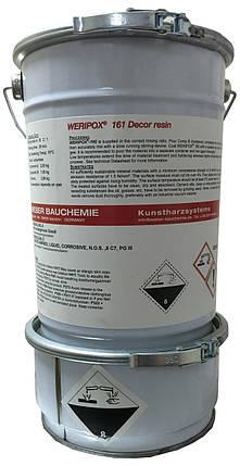 Епоксидна декоративна 2-компонентна прозора смола Weripox® 161, пак. 10 кг / Эпоксидный наливной пол, фото 2