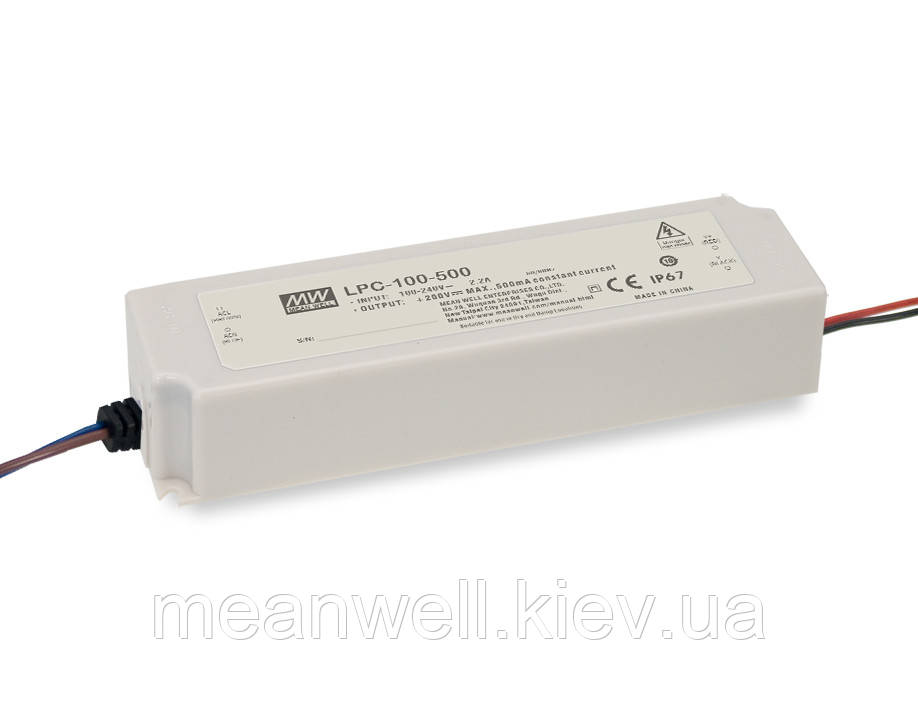 LPC-100-1400 Блок питания Mean Well  Драйвер для светодиодов (LED) 100.8 Вт, 36 ~ 72 В, 1400 мА