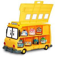 """Robocar. Кейс-гараж для хранения игрушек """"Школьный автобус"""",3 года+ (83148)"""
