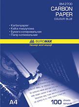 Папір копіювальний А4 100л синя