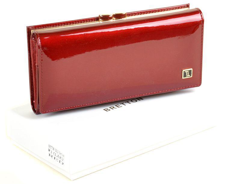 6591625ff043 Модный яркий кошелек из лаковой кожи, женский Bretton Gold W1 red ...
