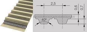 Тип Т2(Шаг 2.5) Полиуретановые зубчатые ремни со стальным кордом
