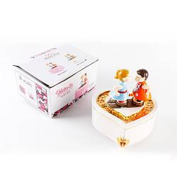 Детская музыкальная Metr+ заводная шкатулка 19.5х15х10 см., белая