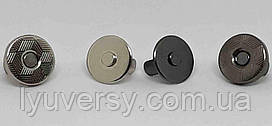 Кнопка магнитная 10 мм (200 шт) никель