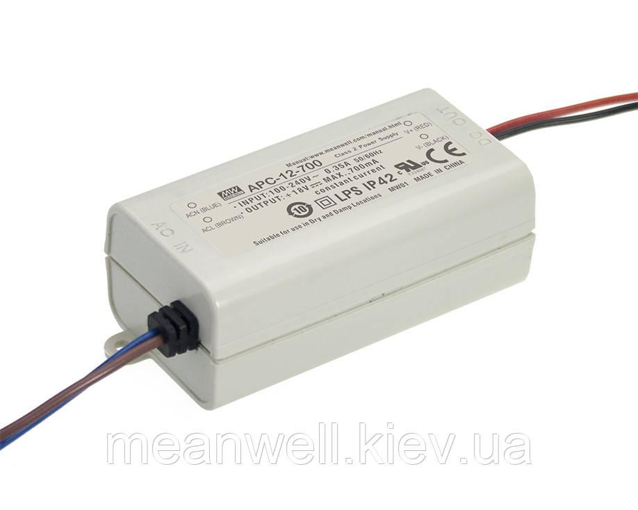 APC-12-350 Блок питания Mean Well  Драйвер для светодиодов (LED) 12.6 Вт, 9~36 В, 350 мА