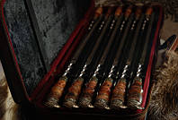 """Набор шампуров """"Полёт"""" (12шт, 3мм) в кейсе из кожзама (наличие уточняйте)"""