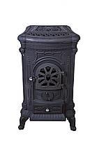 Камин печь буржуйка чугунная Bonro Black двойная стенка 9 кВт, фото 3