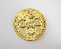 Циферблат золотистый к часам Rolex Daytona механика. Класс: АА.