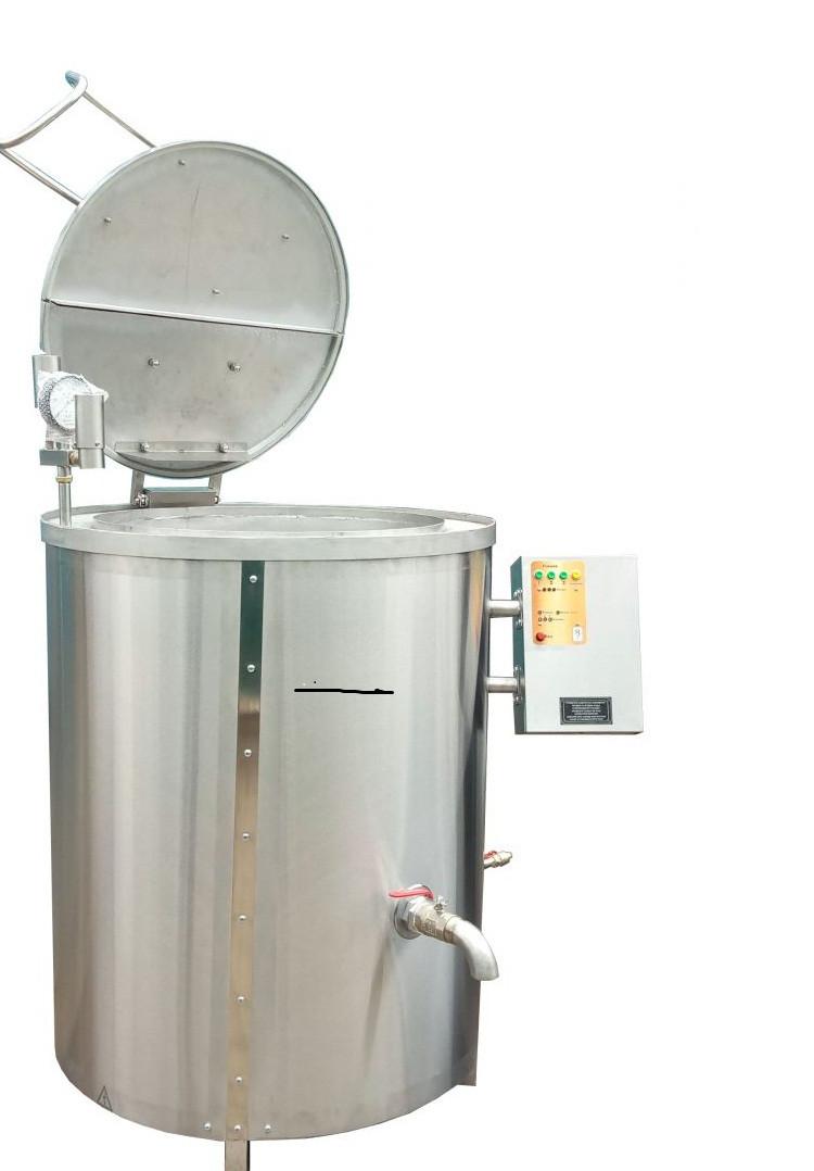 Котел пищеварочный КПЭ-160 с пароводяным нагревом с миксером Эфес