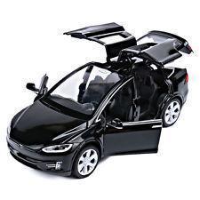 Коллекционная машинка Tesla Model X металлическая модель в масштабе 1:32
