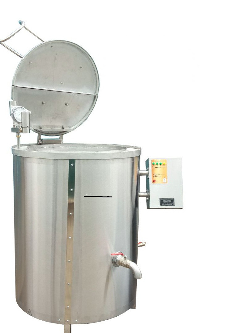 Котел пищеварочный КПЭ-400 с пароводяным нагревом с миксером Эфес