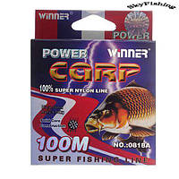 Леска POWER Carp Winner-100m/0.40mm, 19,2кг.