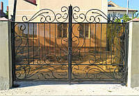 Кованые ворота, калитка, забор