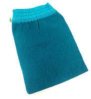 Кесе-рукавичка для пилинга в хамаме (средней текстуры) голубая