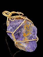 Кулон из камня аметист