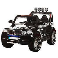 Детский двухместный электромобиль с мягкими колесами Джип BMW M 3118 EBLR-2, 4 мотора