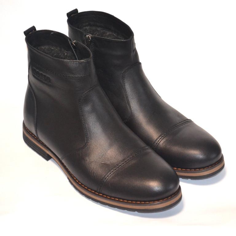 Челси зимние мужские ботинки Rosso Avangard. Danni Rhombus Black черные