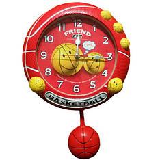 """Детские настенные часы """"Баскетбол"""" с маятником g1"""