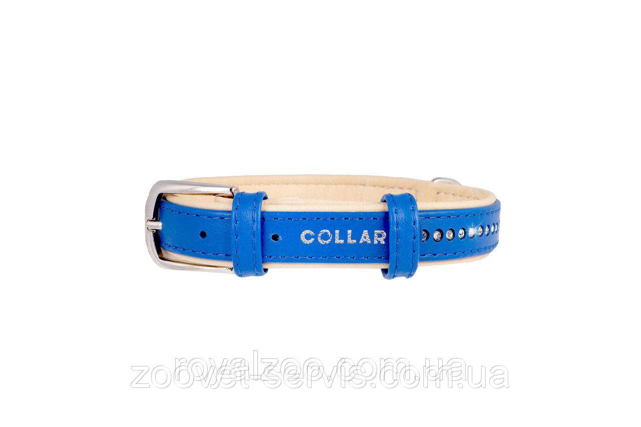 Ошейник Collar Brilliance со стразами ширина 15 мм обхват шеи 27-36 см 387412