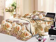 Двухспальное постельное белье с ефектом 3D- персиковая роза