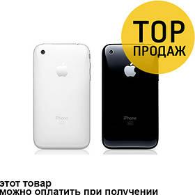 Задняя панель корпуса для мобильного телефона Apple iPhone 3G, черная, 16 Gb, ORIG