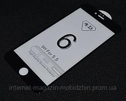 Защитное стекло 4D/5D iPhone 6 Plus, черное