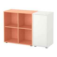 Сочетание шкафов с ногами, белый, оранжевый, 105x35x72 см IKEA EKET 191.908.73