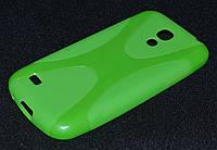 Чехол силиконовый Samsung  i9190/9190, зеленый   (Самсунг и9190, чехол- накладка, бампер, кейс, панель)