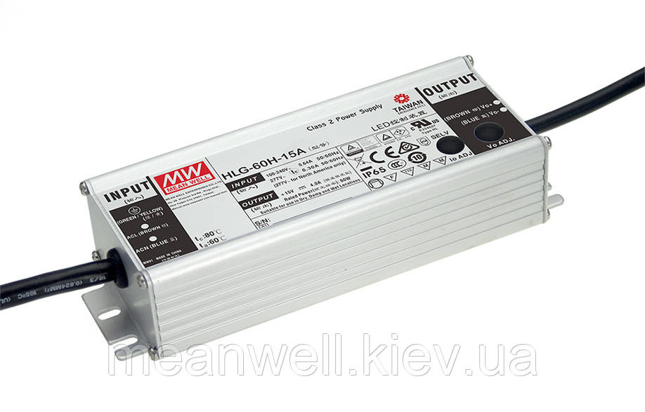 HLG-60H-36A Блок питания Mean Well 61.2 вт, 1.7А, 33-40V драйвер питания светодиодов LED IP67