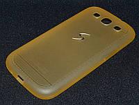 Чехол силиконовый Samsung i9300/S3, жёлтый, Creative (Самсунг и9300/С3, чехол- накладка, бампер, кейс, панель)