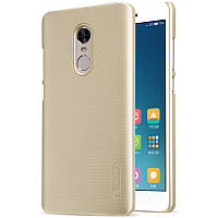 Жесткий бампер Nillkin Frosted Shield для Xiaomi Redmi Note 4 (MTK, Global, 4X, 4X Pro). Золотистый.