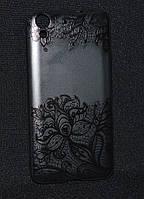 Чехол силиконовый Huawei Y6 II/ CAM-L21,Tatoo (Хуавей у6 2,Чехол-накладка, бампер, защита для телефонов, кейс)